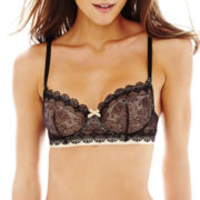 THE BODY Elle Macpherson Intimates NATURAL Geometric Lace Bra