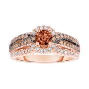 True Love, Celebrate Romance® 1 CT. T.W. Champagne & White Diamond Ring