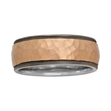 jcpenney.com |  Mens 8mm Hammered Two-Tone Band