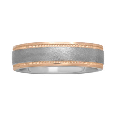 jcpenney.com |  Mens 6mm Textured Two-Tone Band