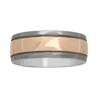 jcpenney.com |  Mens 8mm Polished Two-Tone Band