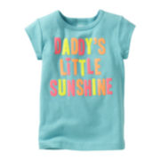 Carter's® Short-Sleeve Daddy's Sunshine Graphic Tee - Girls 6m-24m