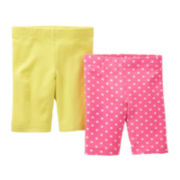 Carter's® 2-pk. Bike Shorts - Girls 2t-4t