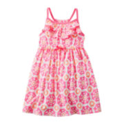 Carter's® Sleeveless Floral Print Dress - Girls 2t-4t