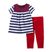 Carter's® Striped Tunic and Legging Set - Girls newborn-12m