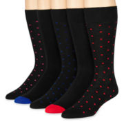 Stafford® 5-pk. Dot Socks