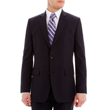 jcpenney.com | Stafford® Executive Super 130 Navy Pinstripe Suit Jacket - Classic