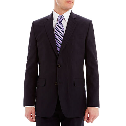 Stafford® Executive Super 130 Navy Pinstripe Suit Jacket - Classic