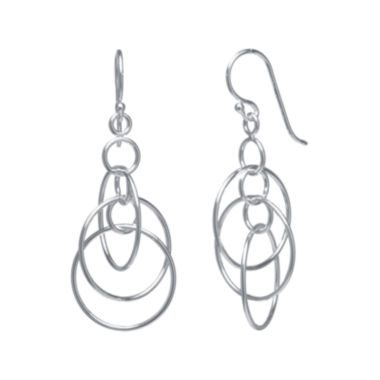 jcpenney.com | Silver-Plated Triple-Circle Mobile Earrings