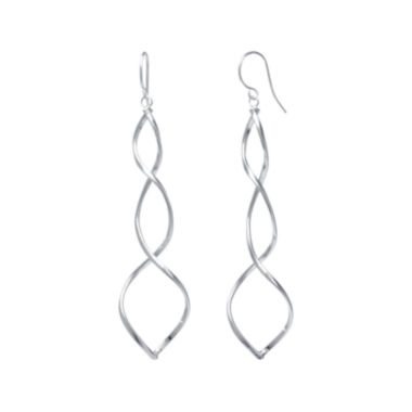 jcpenney.com | Silver-Plated Spiral Drop Earrings