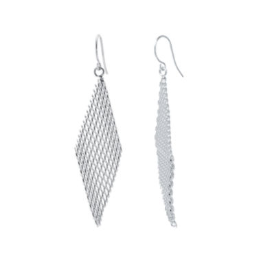 jcpenney.com | Silver-Plated Mesh Kite Earrings