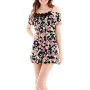 Decree® Short-Sleeve Cold-Shoulder Romper