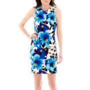 Alyx® Sleeveless Tropical Print Basic Sheath Dress