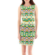 Alyx® Sleeveless Print Basic Sheath Dress