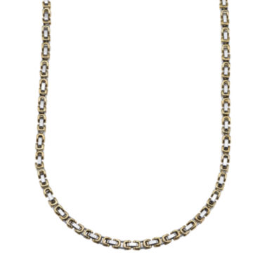 jcpenney.com | Mens Two-Tone Stainless Steel Link Chain Necklace