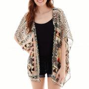 Living Doll Sleeveless High-Low Kimono