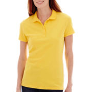 St. John's Bay® Short-Sleeve Piqué Knit Polo Shirt