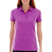 St. John's Bay® Short-Sleeve Piqué Knit Polo Shirt