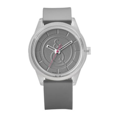 jcpenney.com | Smile Solar White Bezel and Gray Strap Sports Watch