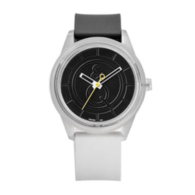 jcpenney.com | Smile Solar Black and White Strap Sports Watch