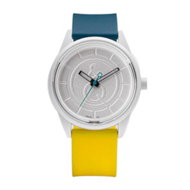 jcpenney.com | Smile Solar Blue and Yellow Strap Sports Watch