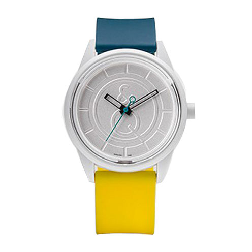 Smile Solar Blue and Yellow Strap Sports Watch