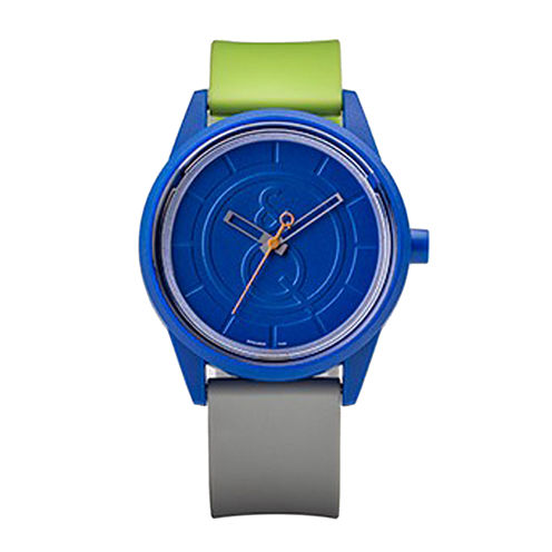 Smile Solar Blue Green and Black Strap Sports Watch