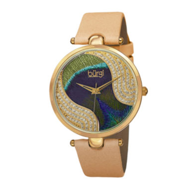 jcpenney.com | Burgi Womens Multicolor Crystal-Dial Watch