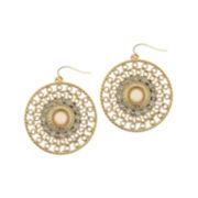 Capelli New York Gold-Tone Drop Earrings