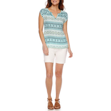 jcpenney.com | Stylus™ Short-Sleeve Peasant Top or Denim Bermuda Shorts