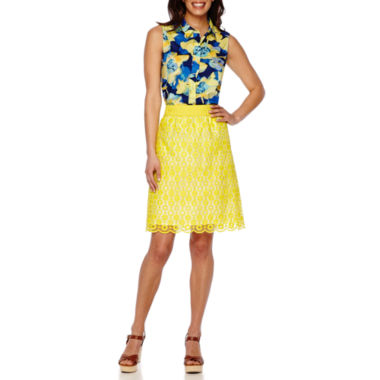 jcpenney.com | Liz Claiborne® Sleeveless Floral Blouse or Pull-On Lace Skirt - Tall