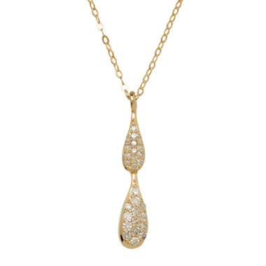 jcpenney.com | 1/8 C.T. TW. Diamond 10K Yellow Gold Necklace