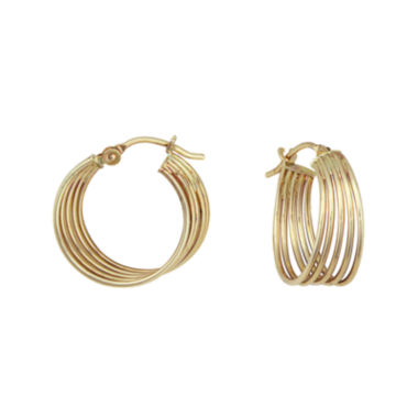 jcpenney.com | 14K Yellow Gold Multi-Row Hoop Earrings