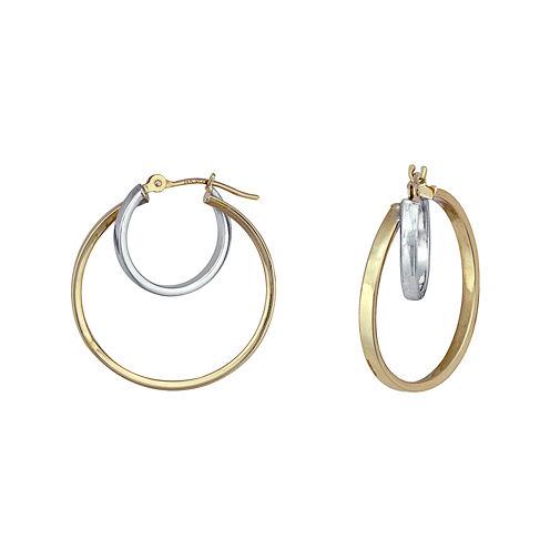 14K Gold Two-Tone Nested Hoop Earrings