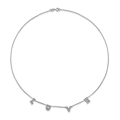1/10 CT. T.W. Diamond Sterling Silver Necklace