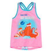 Disney Apparel by Okie Dokie® Finding Dory Knot-Back Tank Top - Toddler Girls 2t-5t
