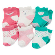 Carter's® 6-pk. Critter Socks - Baby Girls newborn-24M