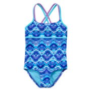 Free Country® Tie-Dyed 1-Piece Swimsuit - Girls 7-16