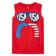 Okie Dokie® American Print Cotton Tank Top - Preschool Boys 4-7