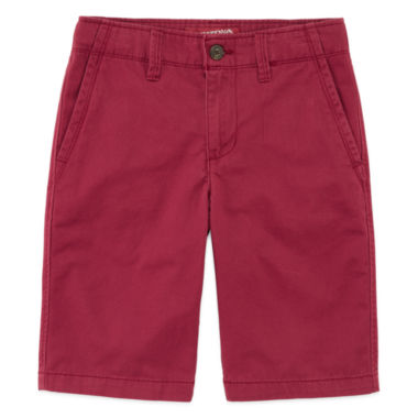 jcpenney.com | Arizona Flat Front Chino Shorts - Boys 8-20, Slim and Husky