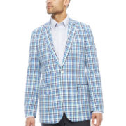 Stafford® Blue Plaid Sport Coat - Classic Fit
