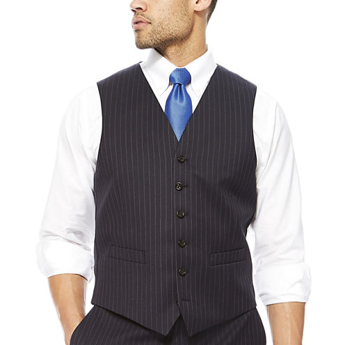 Stafford® Wool Stripe Suit Vest - Classic Fit