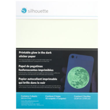 jcpenney.com | Silhouette® 2-pk. Printable Glow-In-The-Dark Adhesive Sheets