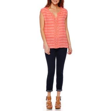 jcpenney.com | Stylus™ Short-Sleeve Peasant Top or Skinny Jeans