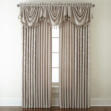 jcpenney.com | Royal Velvet® Chenille Scroll Rod-Pocket/Back-Tab Window Treatments