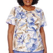 Alfred Dunner® Sanibel Island Tropical-Print Tee - Plus