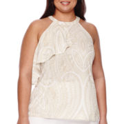 Worthington® Halter Drape-Front Blouse - Plus