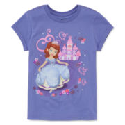 Disney Short-Sleeve Sofia Castle Graphic Tee - Girls