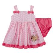 Disney Collection 2-pc. Lady Dress with Shorts Set - Baby Girls newborn-24m