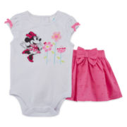 Disney Collection 2-pc. Minnie Top and Skirt Set - Baby Girls newborn-24m